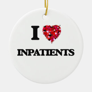 I Love Inpatients Double-Sided Ceramic Round Christmas Ornament