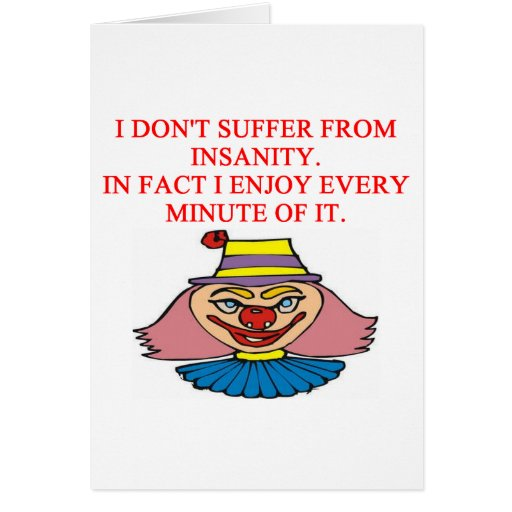 i love insanity greeting card