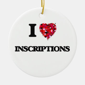 I Love Inscriptions Double-Sided Ceramic Round Christmas Ornament