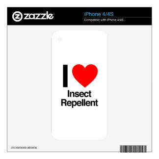 i love insect repellent iPhone 4S skins