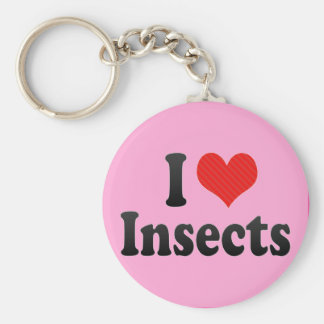 I Love Insects Key Chain