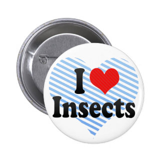 I Love Insects Pinback Button
