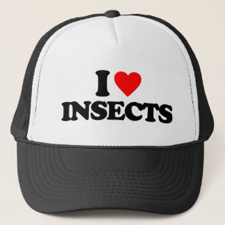 I LOVE INSECTS TRUCKER HAT