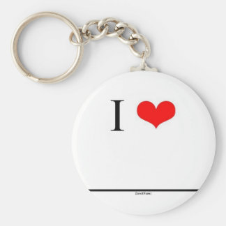 I Love (Insert Name) Basic Round Button Keychain