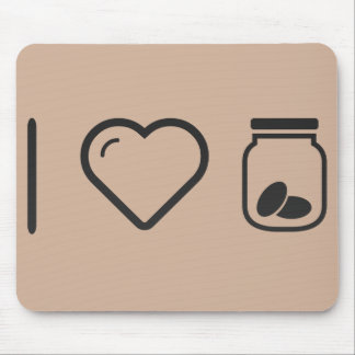 I Love Inside Cookies Mouse Pad