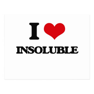 I Love Insoluble Postcard