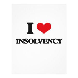 I Love Insolvency Flyer Design