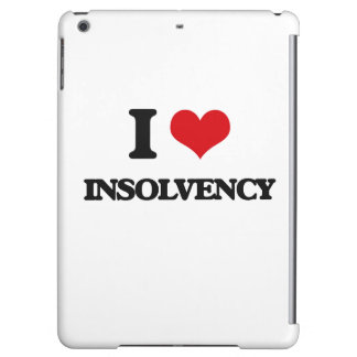 I Love Insolvency iPad Air Cases