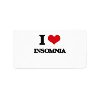I Love Insomnia Personalized Address Label