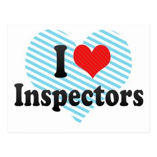 I Love Inspectors Postcard