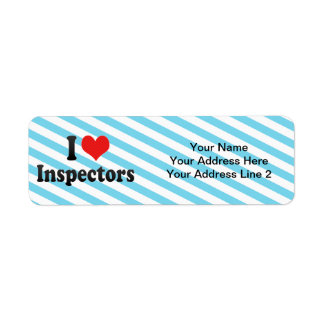 I Love Inspectors Return Address Label