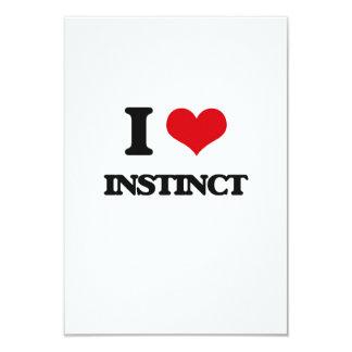I Love Instinct 3.5x5 Paper Invitation Card