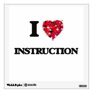 I Love Instruction Wall Sticker