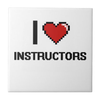 I love Instructors Small Square Tile