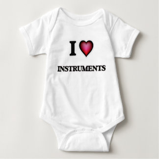 I Love Instruments Baby Bodysuit