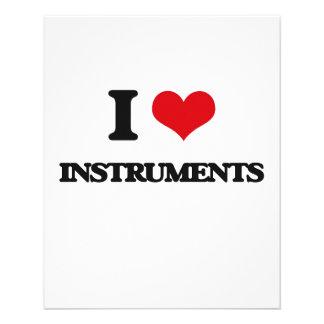 I Love Instruments Full Color Flyer