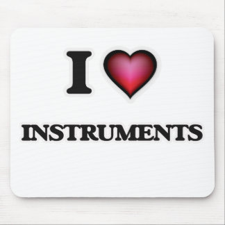 I Love Instruments Mouse Pad