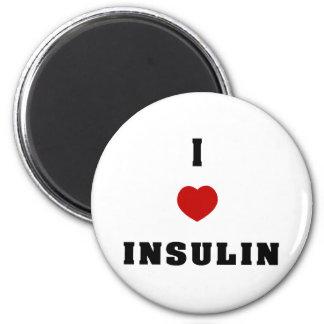 I Love Insulin 2 Inch Round Magnet