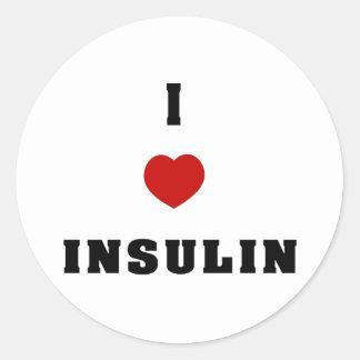 I Love Insulin Round Stickers