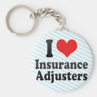 I Love Insurance Adjusters Basic Round Button Keychain