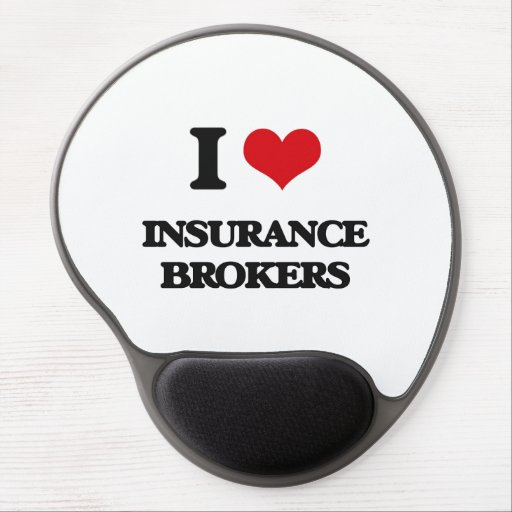 I love Insurance Brokers Gel Mousepads