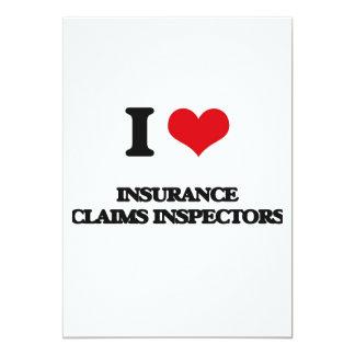 I love Insurance Claims Inspectors 5x7 Paper Invitation Card