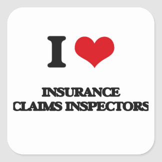 I love Insurance Claims Inspectors Stickers