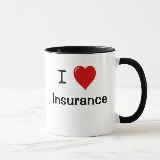 I Love Insurance - I Heart Insurance Mug | Zazzle.com