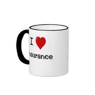 I Love Insurance - I Heart Insurance Ringer Coffee Mug