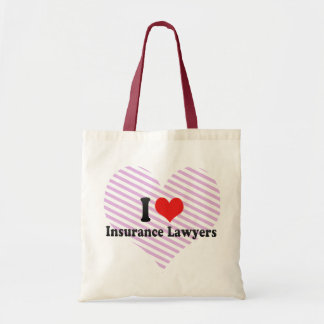 I Love Insurance Lawyers Tote Bags