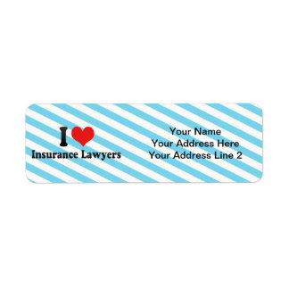 I Love Insurance Lawyers Return Address Label