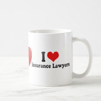 I Love Insurance Lawyers Classic White Coffee Mug