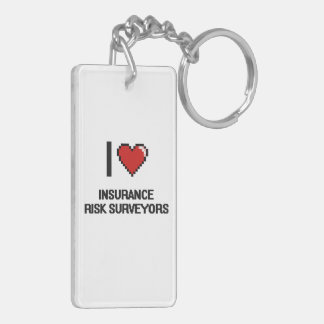 I love Insurance Risk Surveyors Double-Sided Rectangular Acrylic Keychain