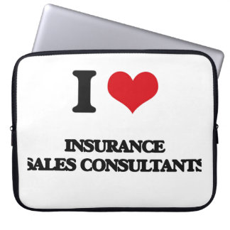 I love Insurance Sales Consultants Laptop Sleeves