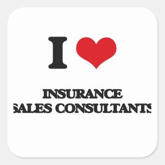I love Insurance Sales Consultants Square Sticker