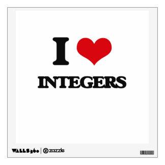 I Love Integers Wall Decals