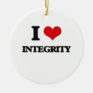 I Love Integrity Double-Sided Ceramic Round Christmas Ornament