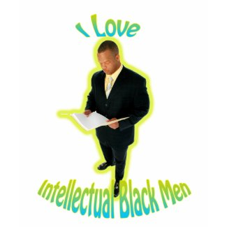 I Love Intellectual Black Men Tee White shirt