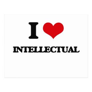 I Love Intellectual Postcard