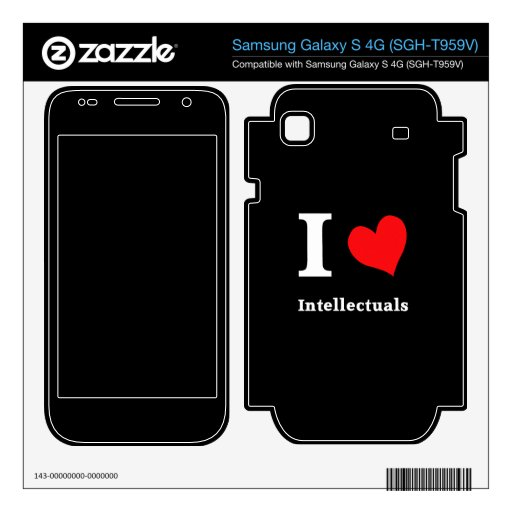 I love...Intellectuals Samsung Galaxy S 4G Decal