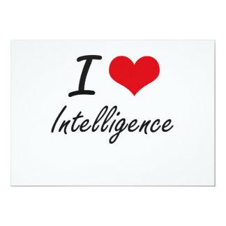 I Love Intelligence 5x7 Paper Invitation Card