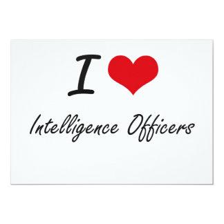 I love Intelligence Officers 5x7 Paper Invitation Card