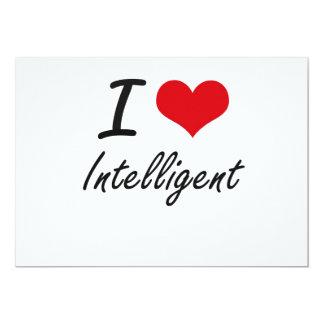 I Love Intelligent 5x7 Paper Invitation Card