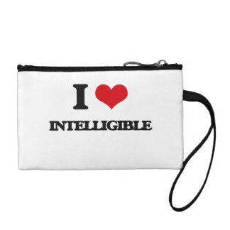 I Love Intelligible Change Purse
