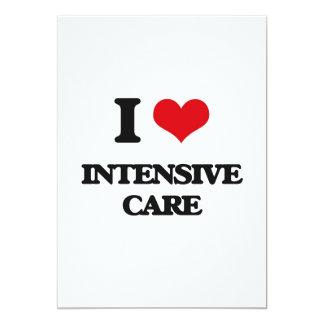 I Love Intensive Care 5x7 Paper Invitation Card