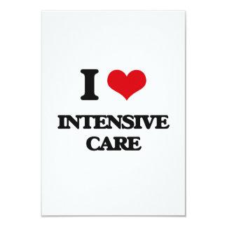 I Love Intensive Care 3.5x5 Paper Invitation Card