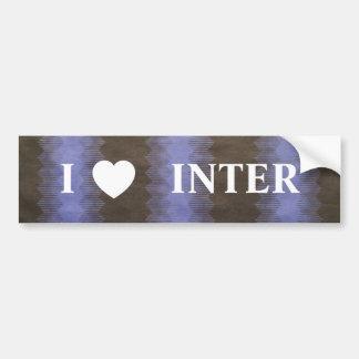 I LOVE INTER BUMPER STICKER