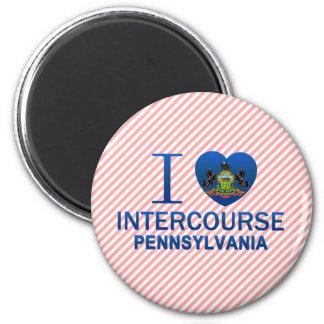 I Love Intercourse, PA Refrigerator Magnet