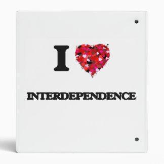 I Love Interdependence 3 Ring Binders