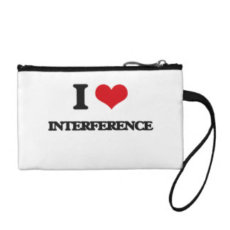 I Love Interference Coin Purses
